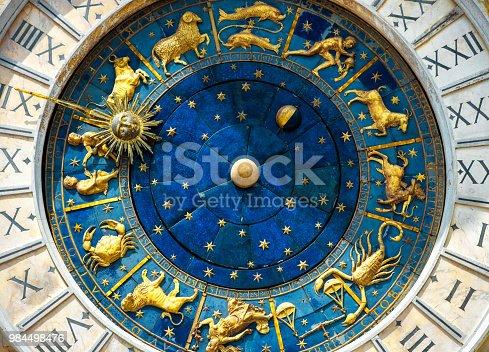 istock Ancient clock Torre dell'Orologio in Venice 984498476