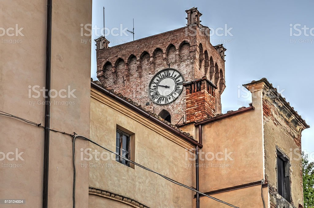 ancient clock tower stock photo