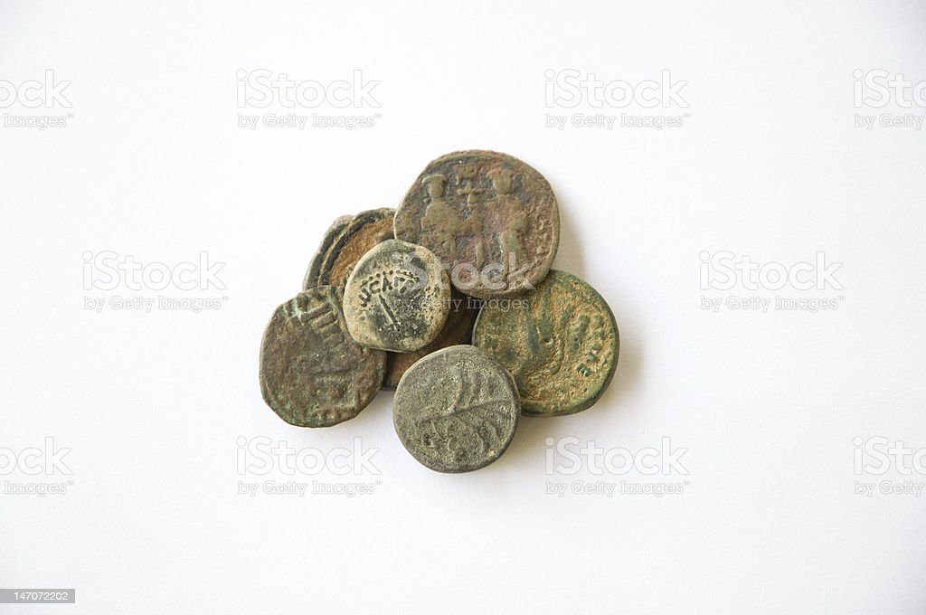Ancient Coins royalty-free stock photo
