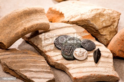 istock Ancient coins 166266622