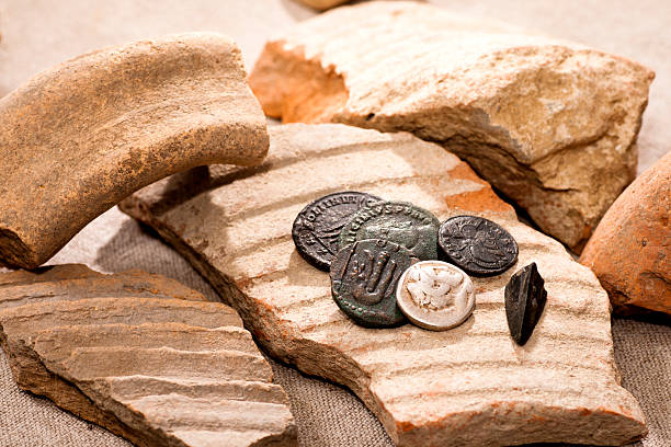 Ancient coins​​​ foto