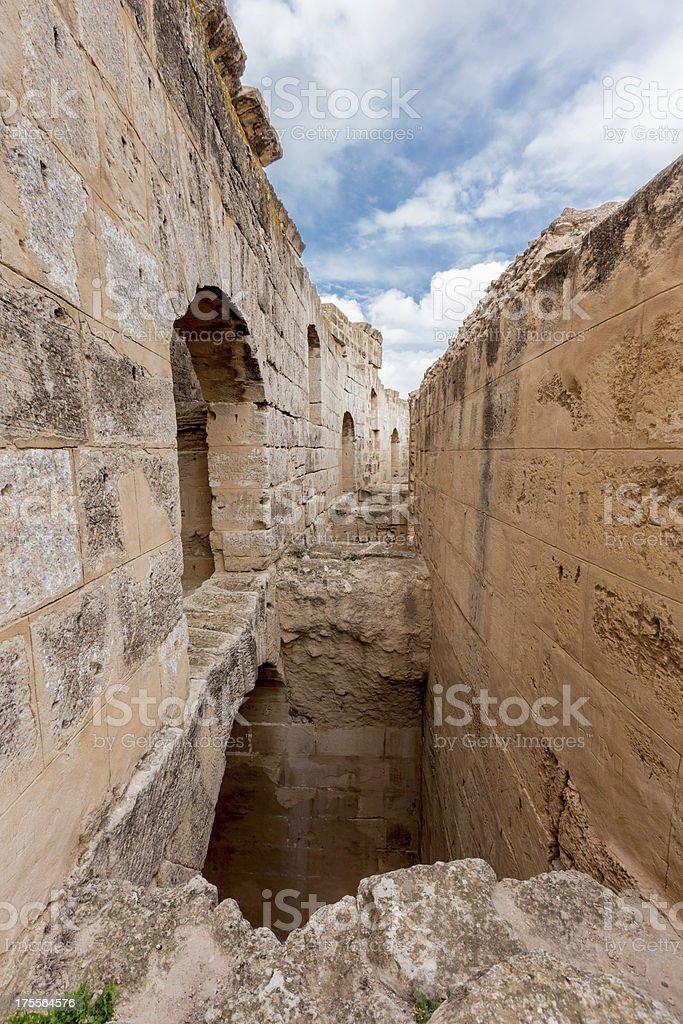ancient colosseum in El Jem, Tunisia stock photo