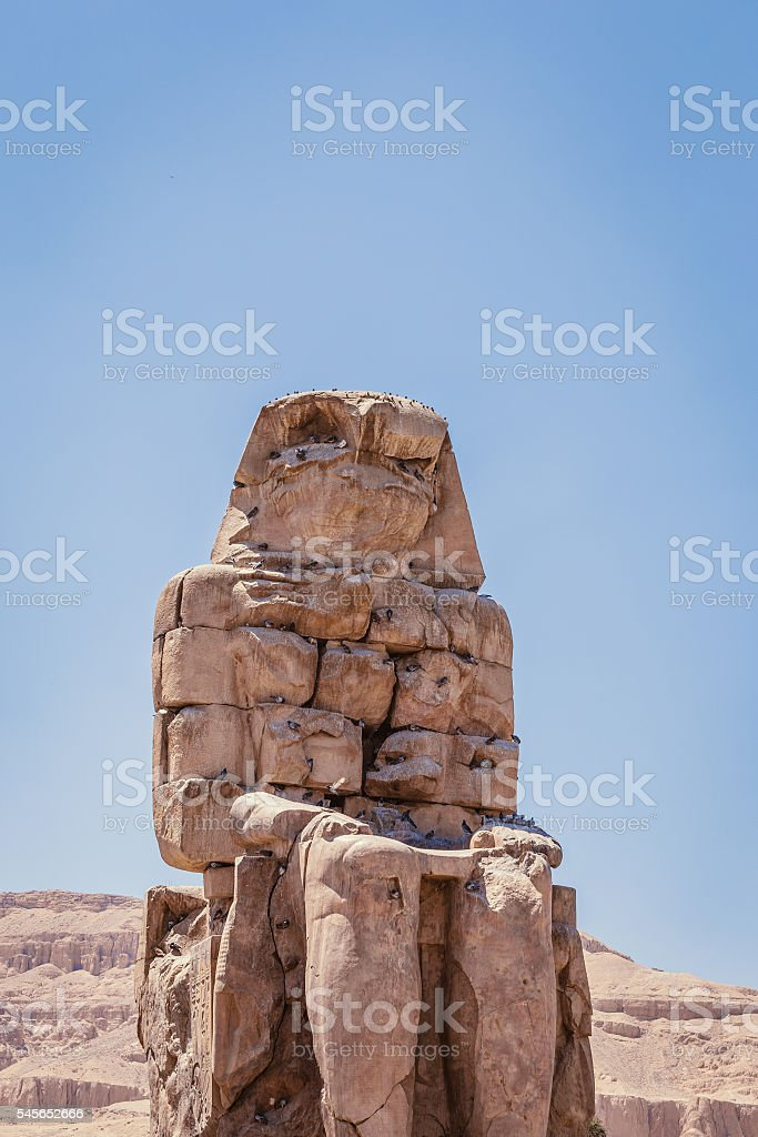 ancient Colossi Memnon stock photo