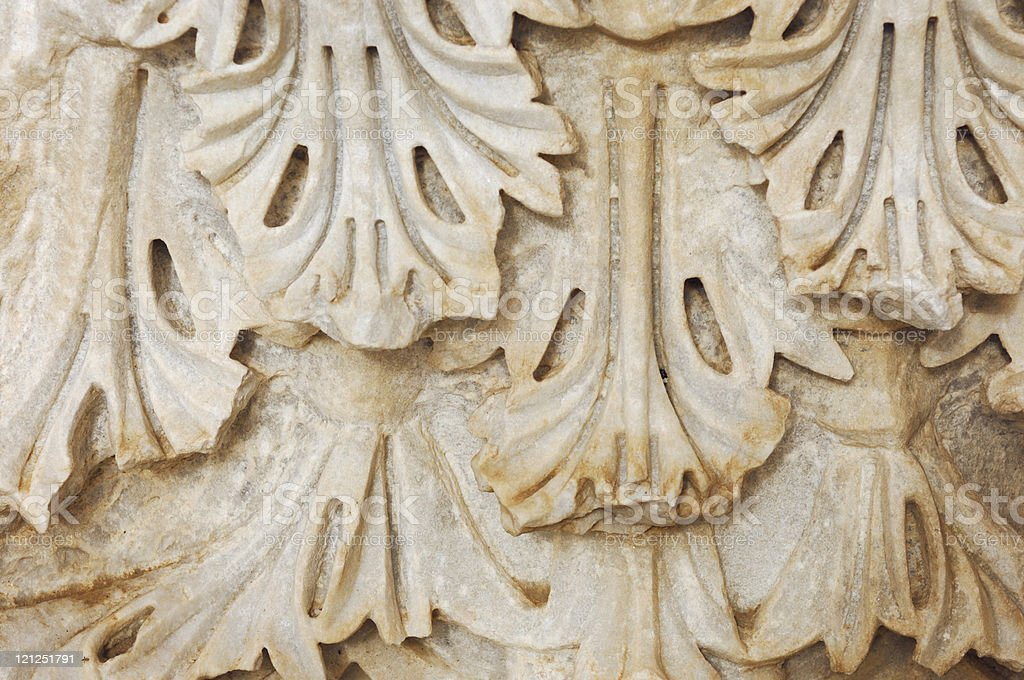 Ancient Column Capital Pattern royalty-free stock photo