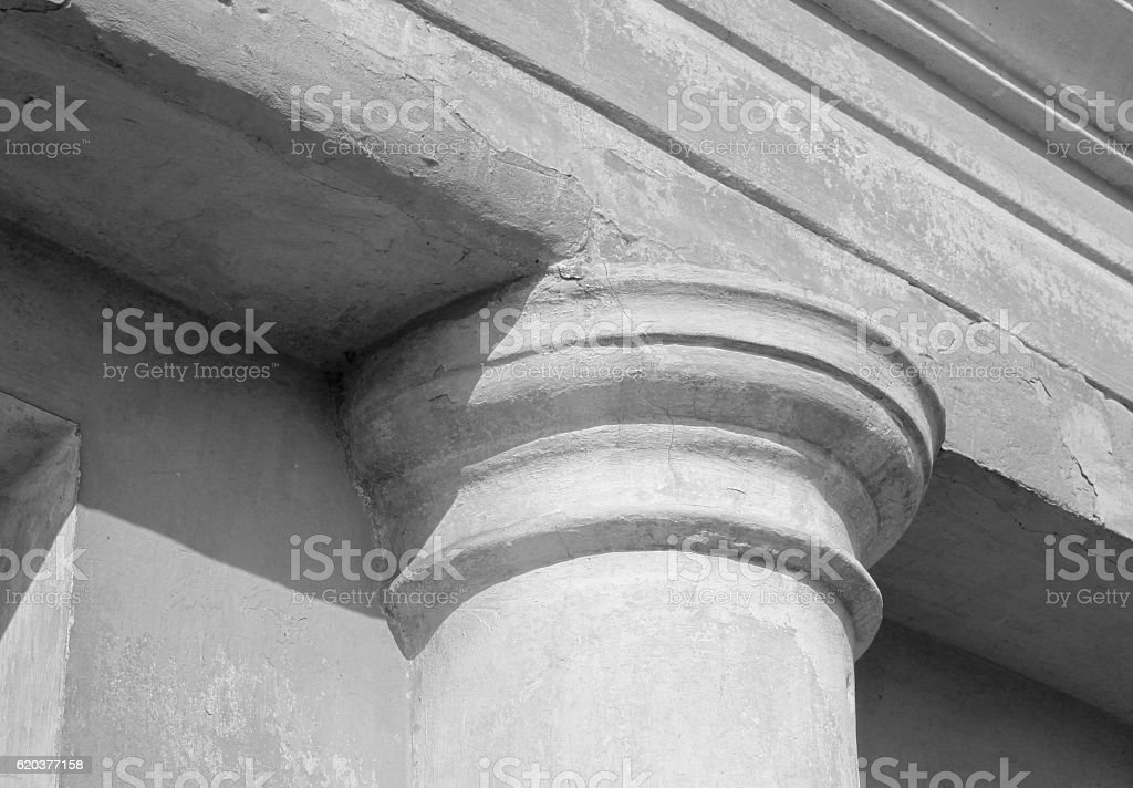 Ancient column closeup / black and white photo foto de stock royalty-free