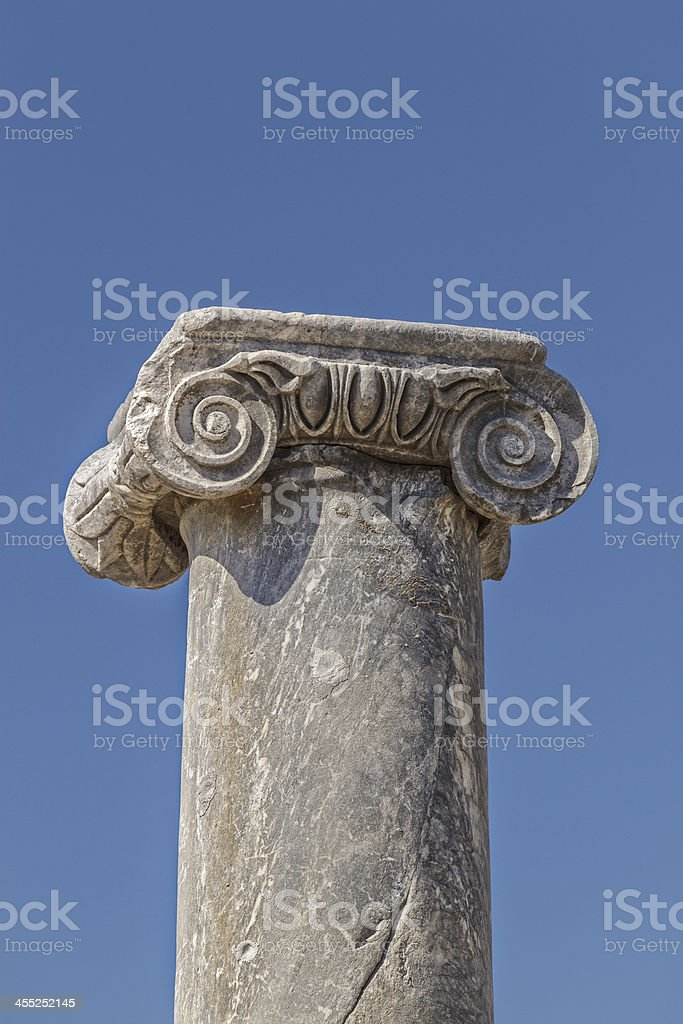 Ancient Column stock photo
