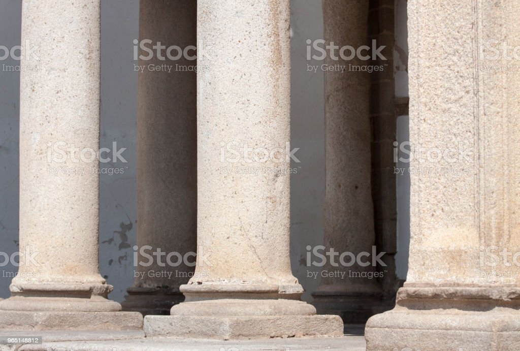 Ancient columns background royalty-free stock photo