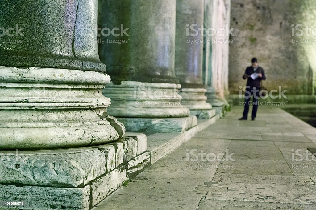 Ancient columns detail royalty-free stock photo