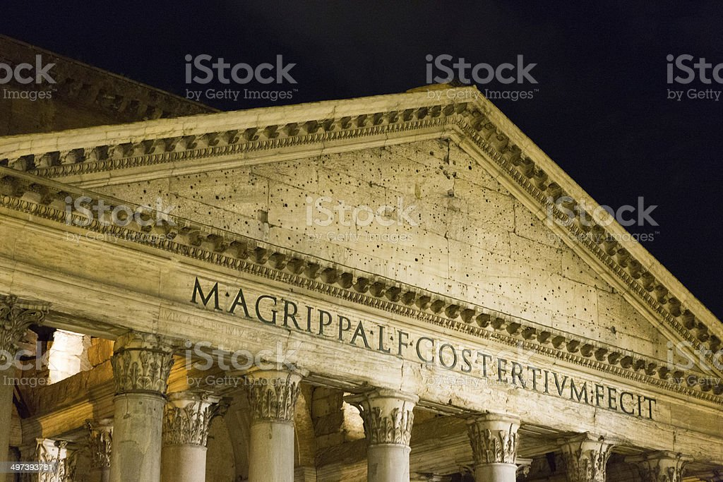 Ancient columns, Pantheon temple, Rome, Italy royalty-free stock photo