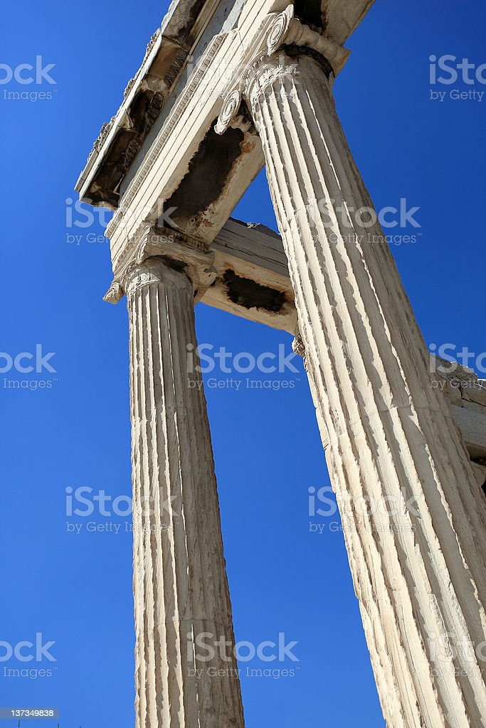 Ancient columns royalty-free stock photo