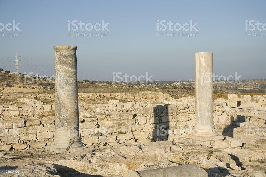 Ancient columns stock photo