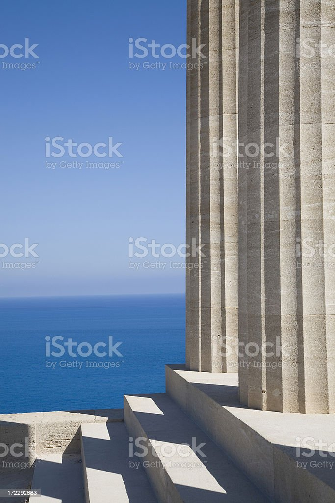 ancient columns royalty-free stock photo