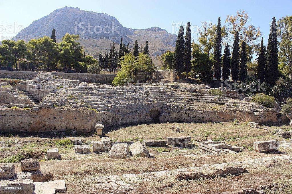 Ancient Corinth - Greece (horizontal) royalty-free stock photo