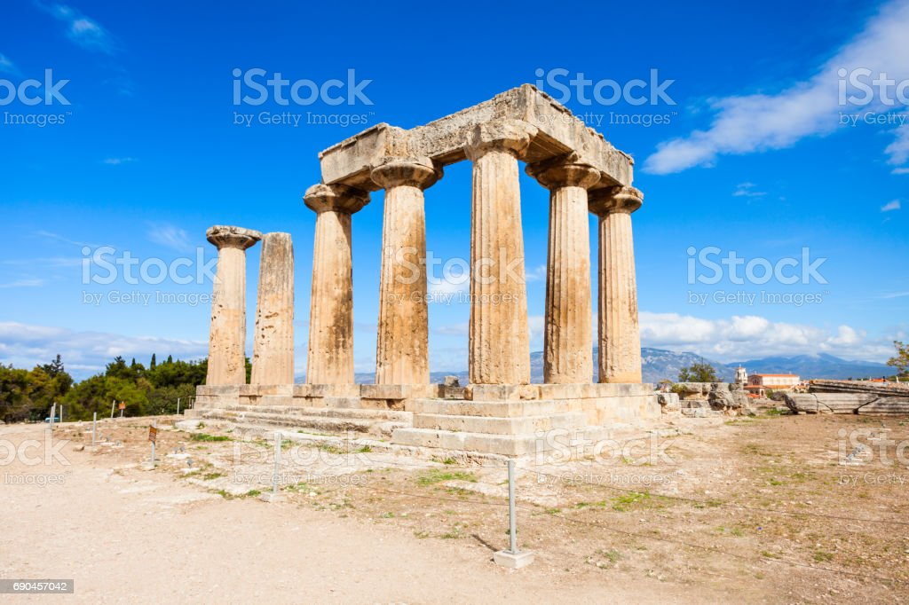Ancient Corinth in Greece stock photo