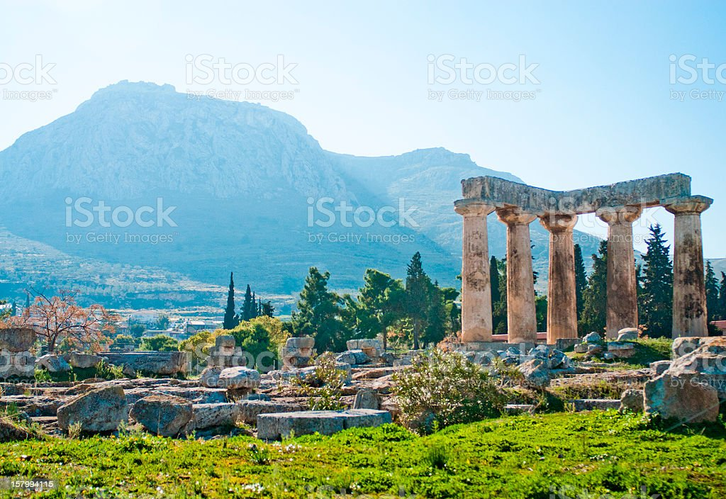 Ancient Corinth stock photo