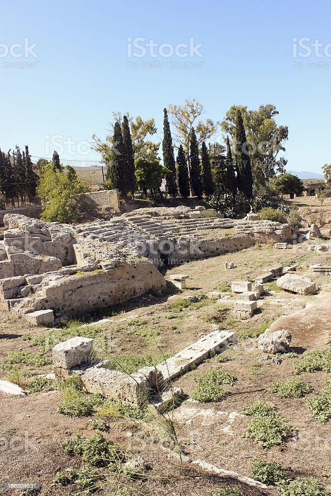 Ancient Corinth - vertical photo royalty-free stock photo