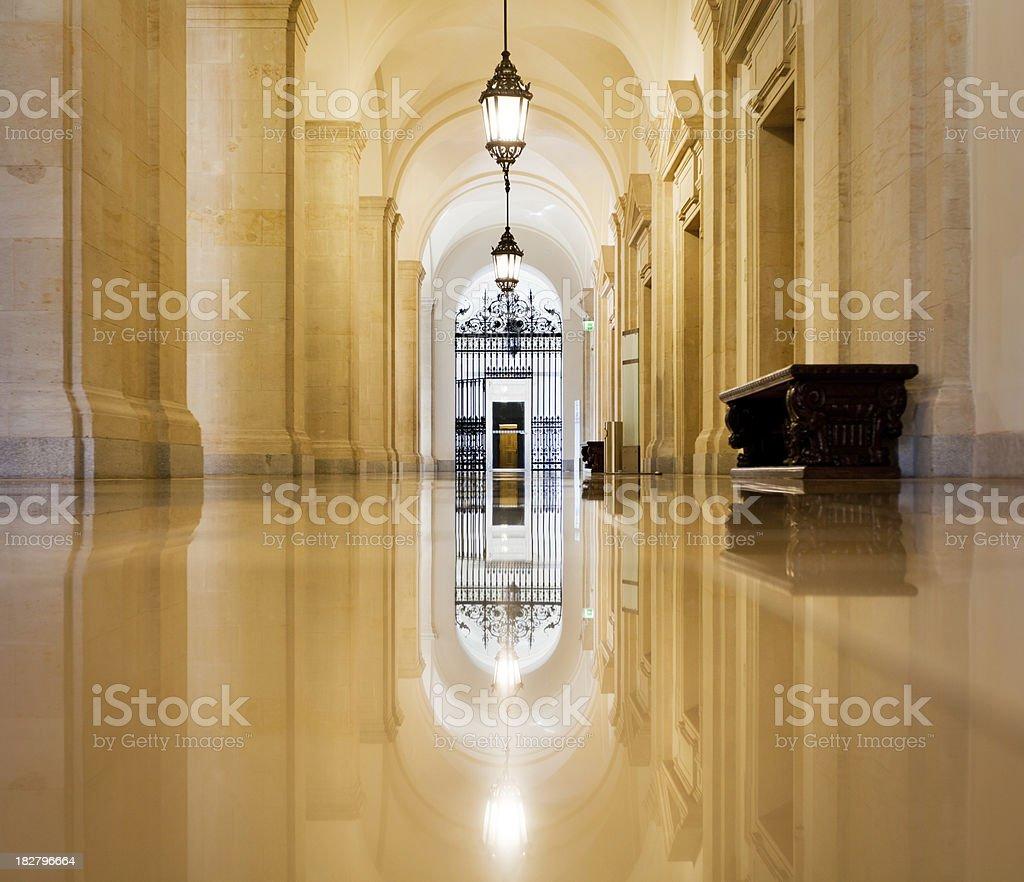 Ancient Corridor stock photo