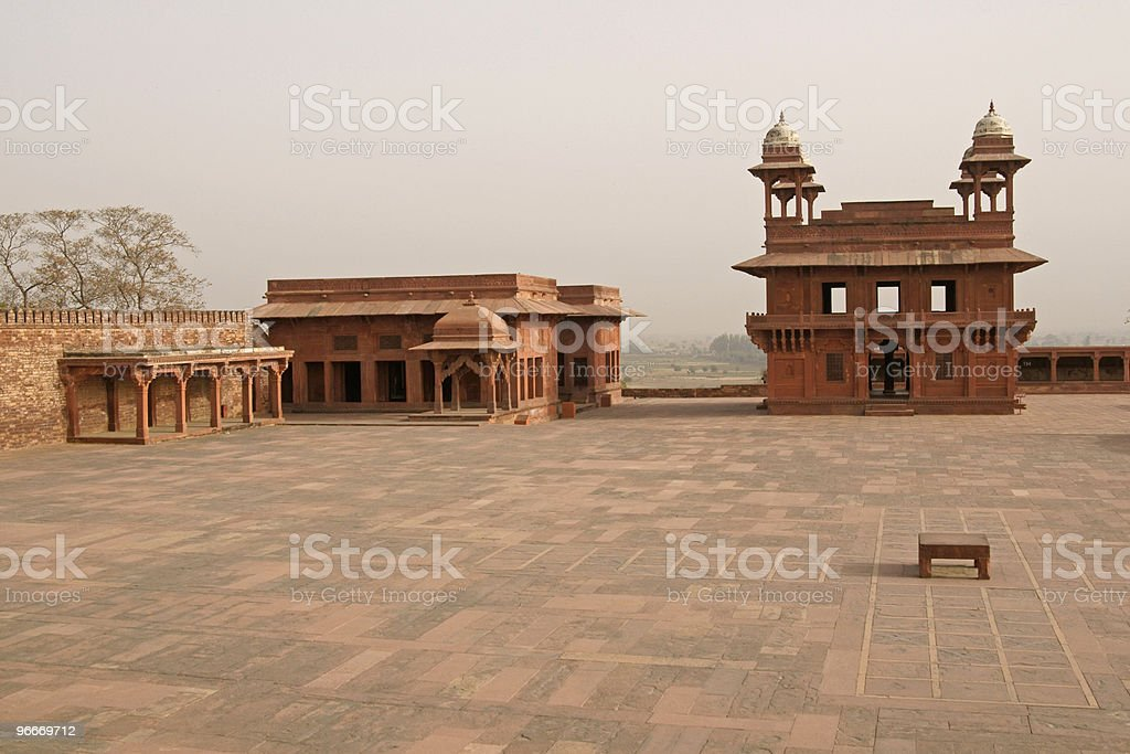 Ancient Courtyard of Fatehpur Sikri. royalty-free stock photo
