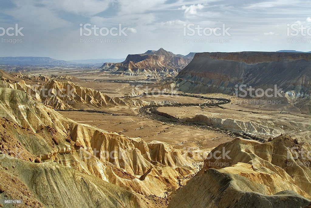 Ancient crater. royalty-free stock photo