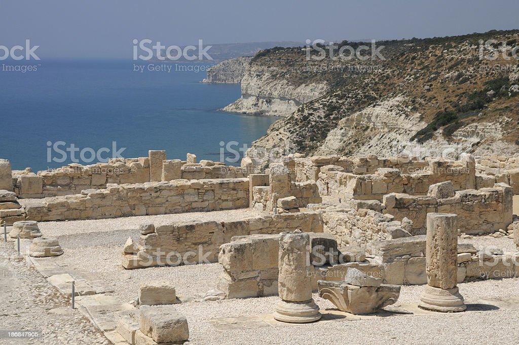 Ancient Curium, Cyprus stock photo