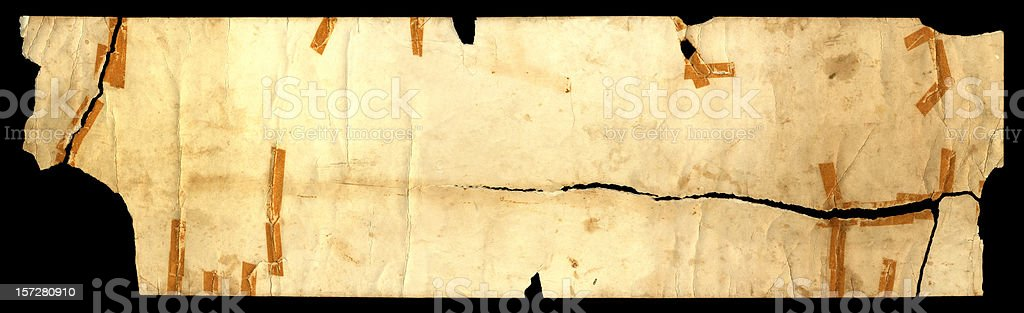 Ancient damaged scroll bgnd (high res) royalty-free stock photo