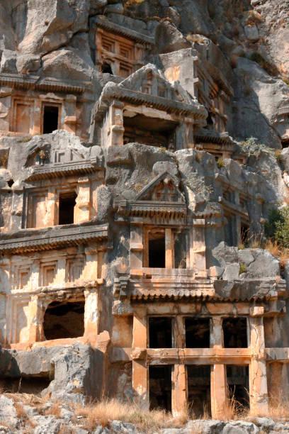 Myra Demre Türkiye'de Antik Ölü Şehir stok fotoğrafı