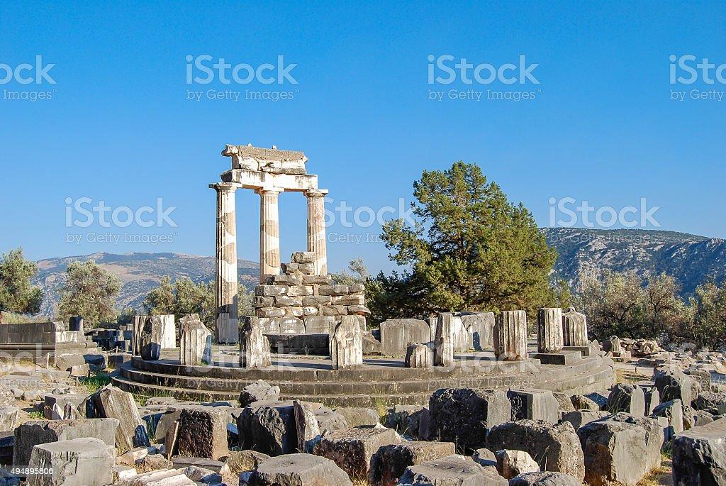 Ancient Delphi, Greece stock photo