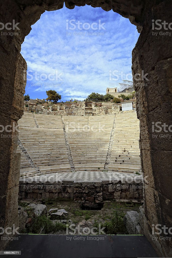 ancient deon of Herod, Athens, Greece stock photo