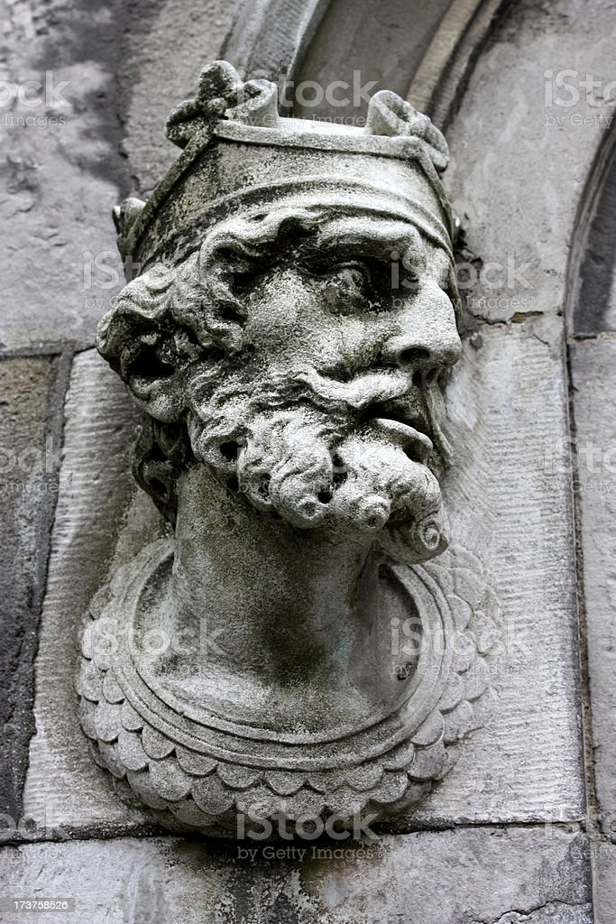 Ancient detail of Dublin Castle royalty-free stock photo