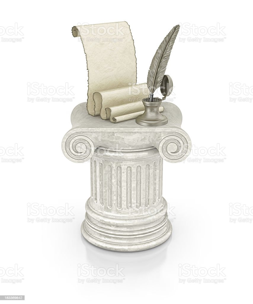 ancient document royalty-free stock photo