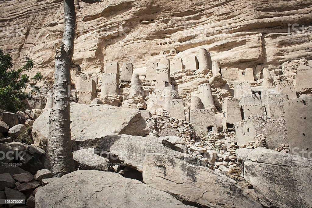 Ancient Dogon village, Mali, Africa. stock photo
