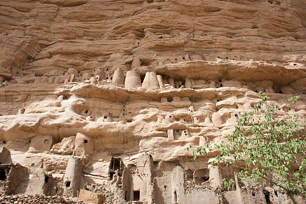 Ancient Dogon village, Mali (Africa). stock photo