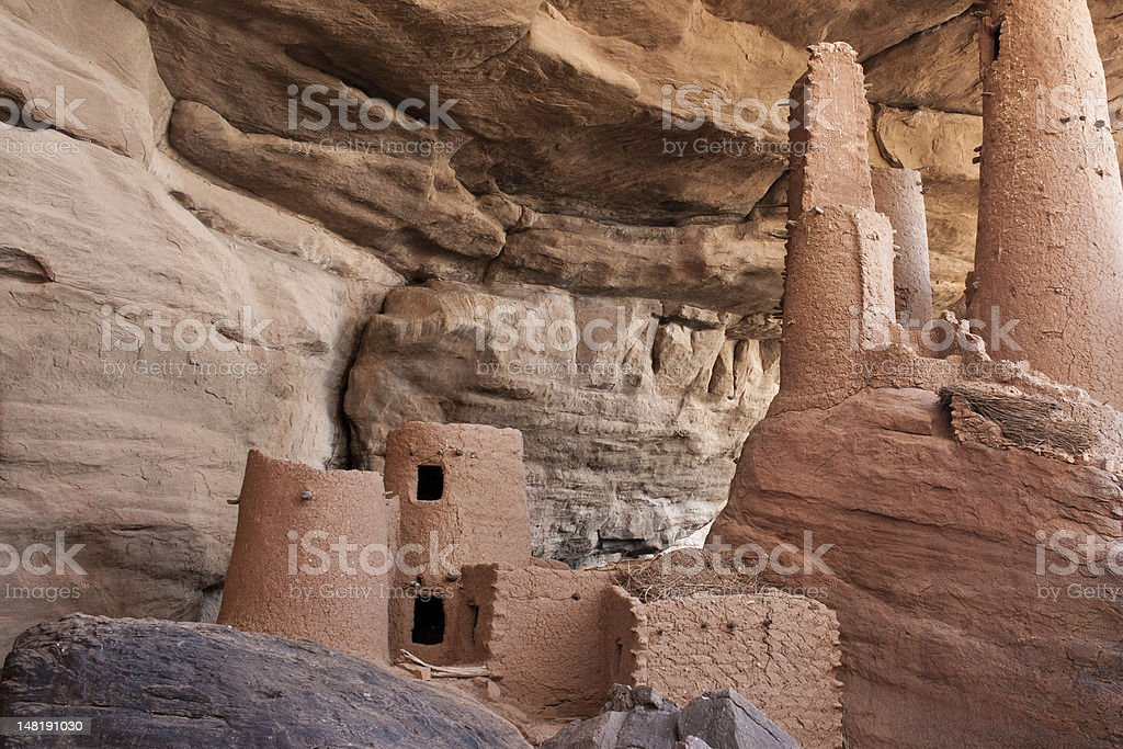 Ancient Dogon village, Mali (Africa). stock photo