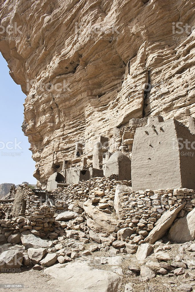 Ancient Dogon village, Mali (Africa). royalty-free stock photo