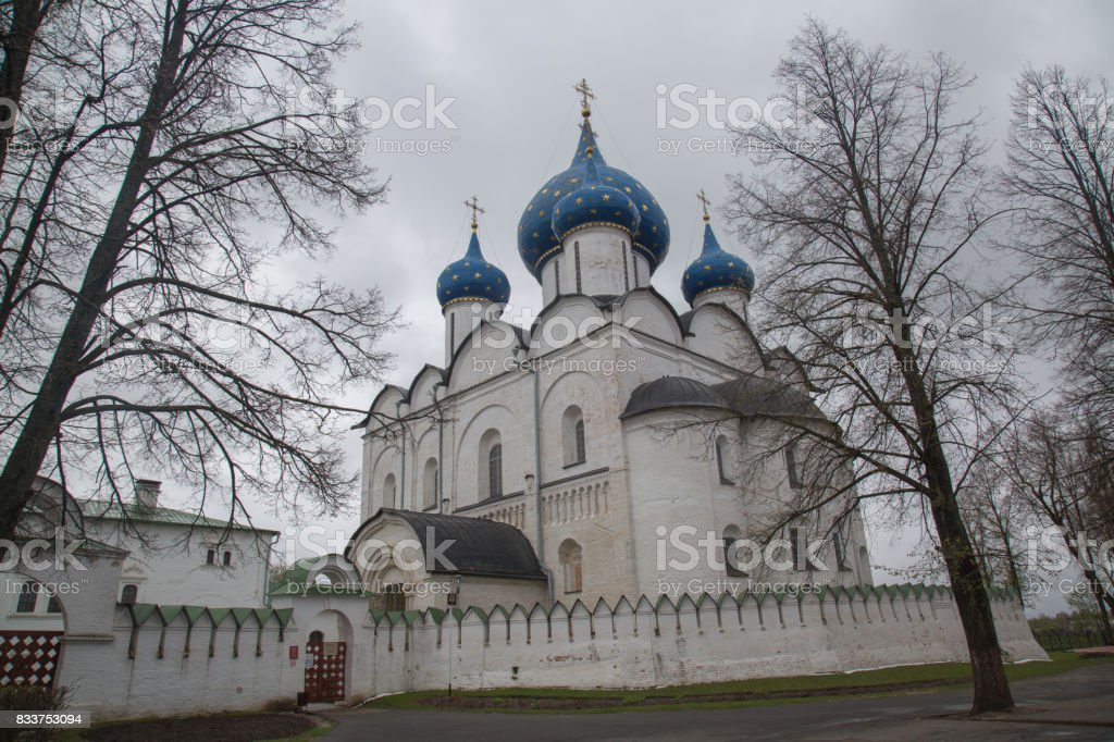 Ancient dome Nativity Blessed Virgin Mary Suzdal Russia stock photo