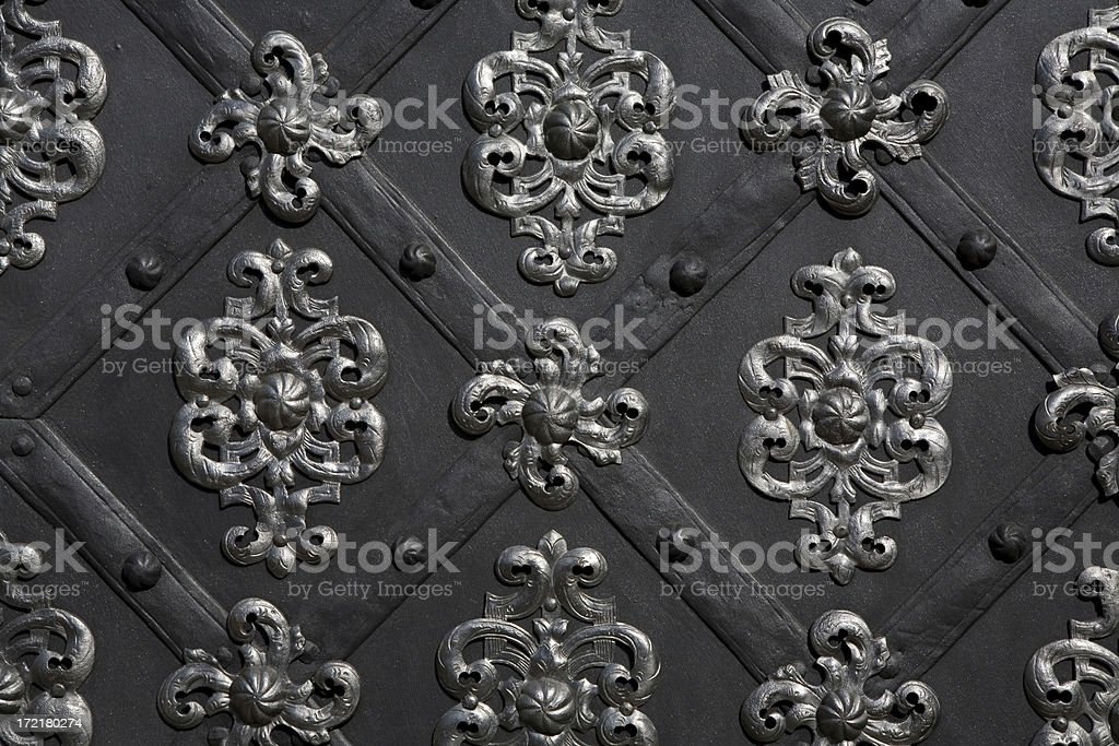 Ancient door detail royalty-free stock photo