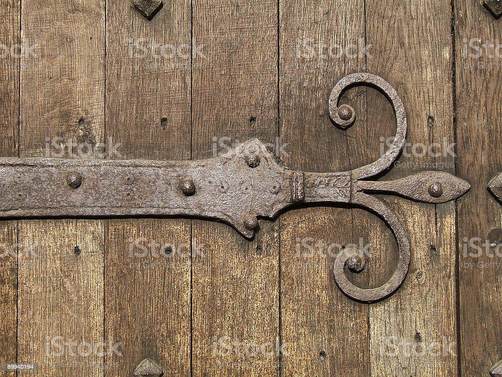 Ancient door detail stock photo