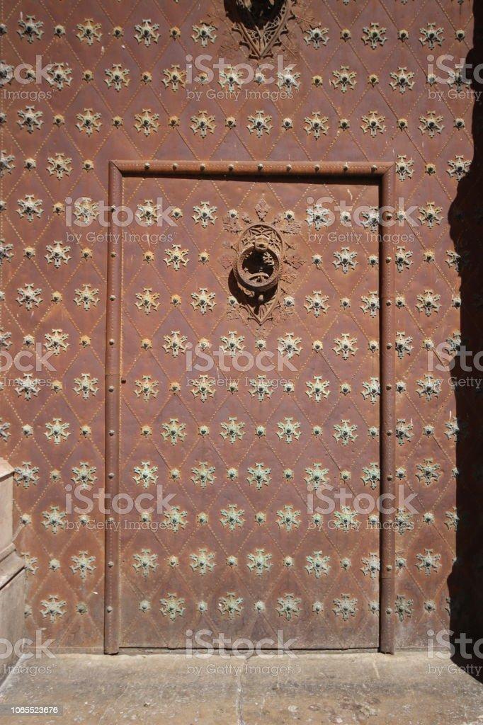 Alte Tür in alten catedral – Foto