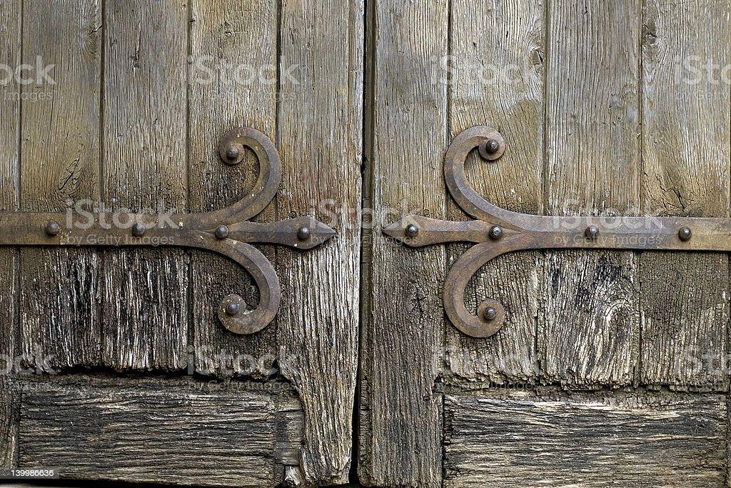 Ancient door royalty-free stock photo