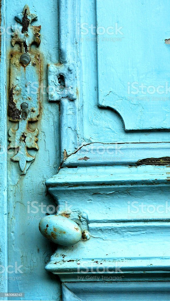 Ancient door royalty-free stock photo