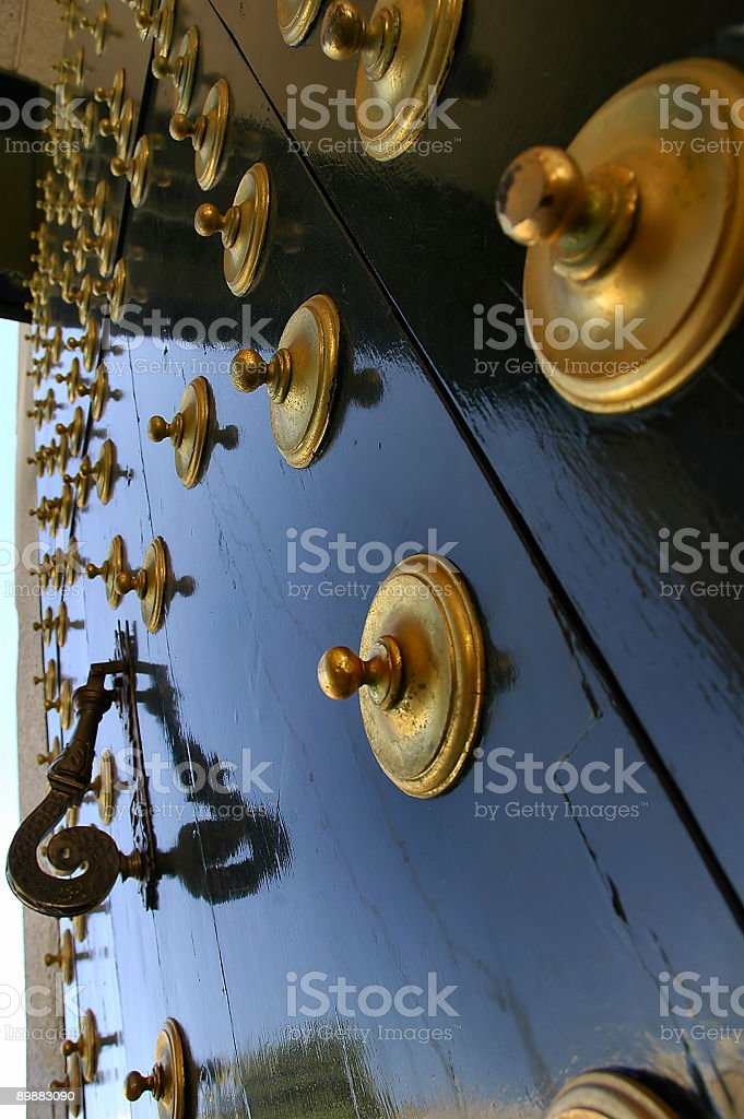 Ancient door royalty free stockfoto