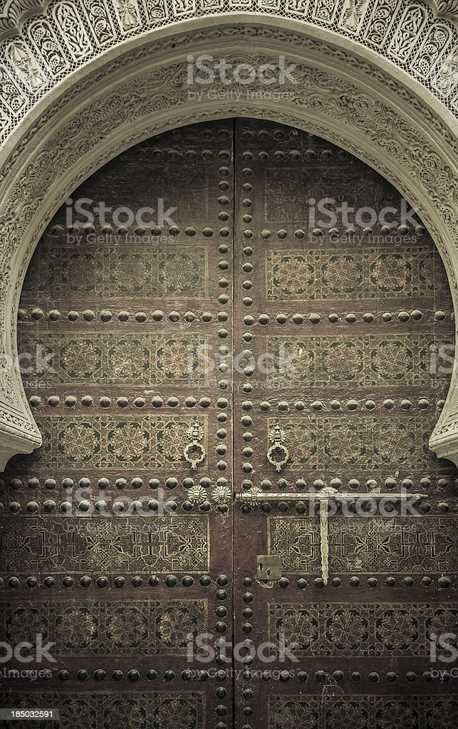 Ancient doors, Morocco royalty-free stock photo