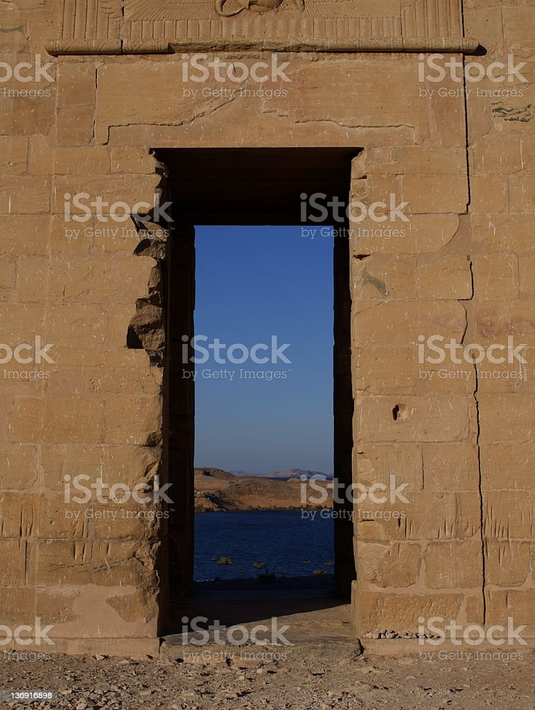 Ancient Doorway stock photo