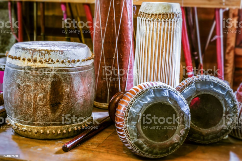 ancient drum stock photo