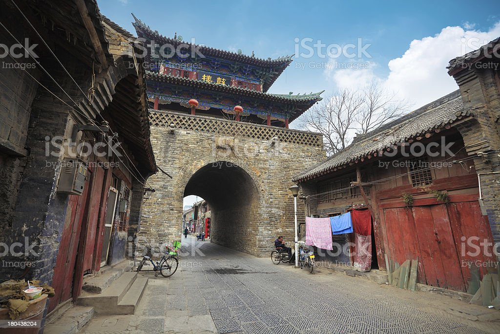 ancient drum tower in luoyang royalty-free stock photo