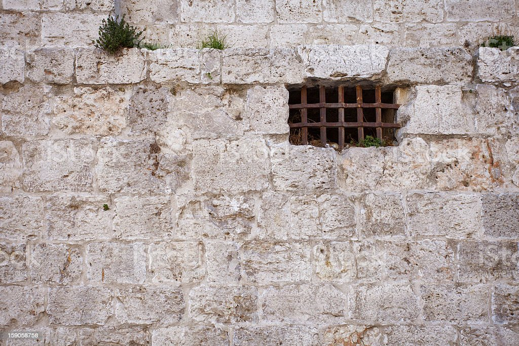 Ancient Dungeon Window royalty-free stock photo