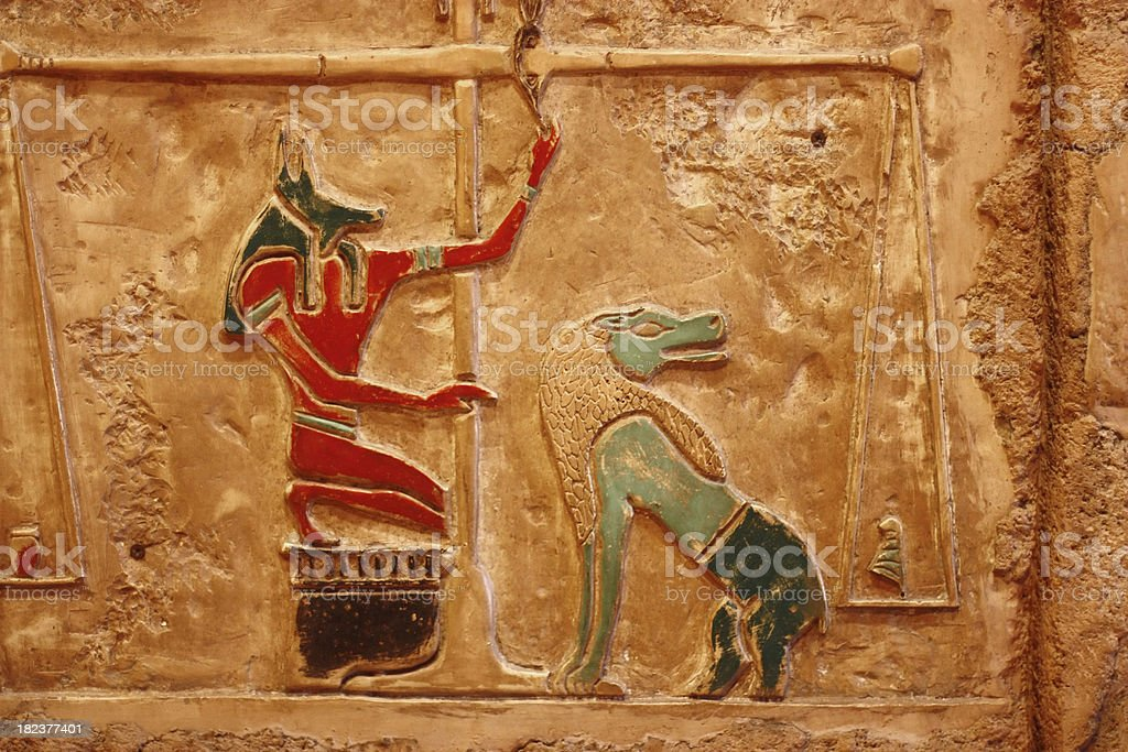 Ancient Egypt Redlief Background stock photo