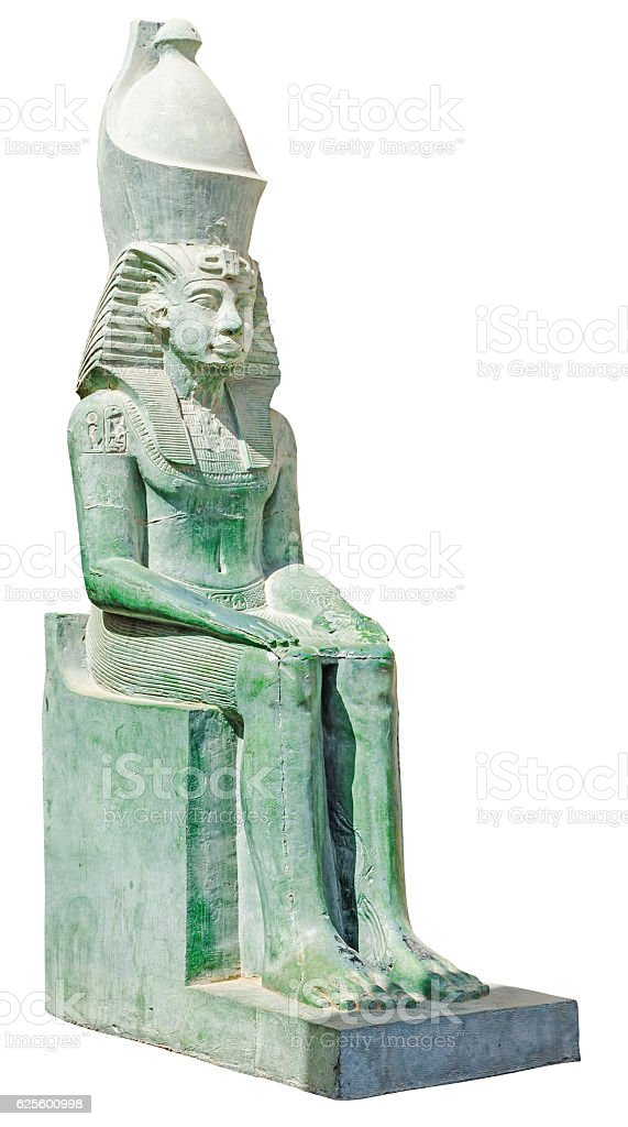 Ancient egypt statue of king Amenemhet stock photo