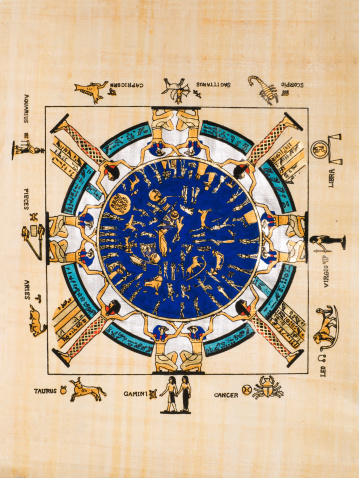 istock Ancient Egyptian calendar in a papyrus 152498816