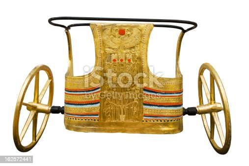 istock Ancient Egyptian ceremonial chariot on white 162572441